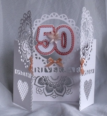 Svg File Template 50th Anniversary Birthday Round Door 4 31