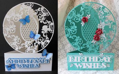 SVG File Template Birthday/Anniversary Card Set - £3.58