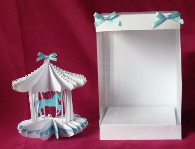 SVG File Template Carousel Horse Card & Box - £3.87