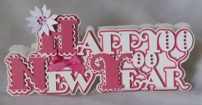 craftrobocameo template scalloped layered happy new year card