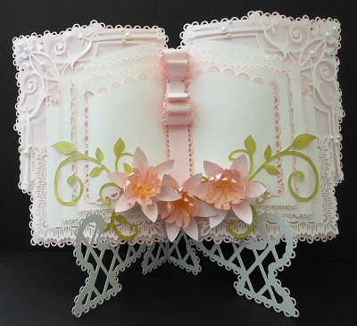 Card Book Template Lily Book Stand Card