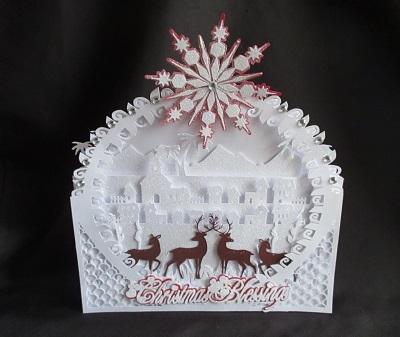 craftrobo cameo template christmas blessing shadow box 4 46