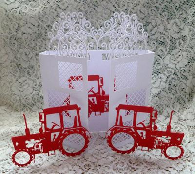 svg file template tractor door card 3 94