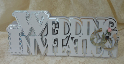 SVG File Template Scalloped Layered Wedding Invitation