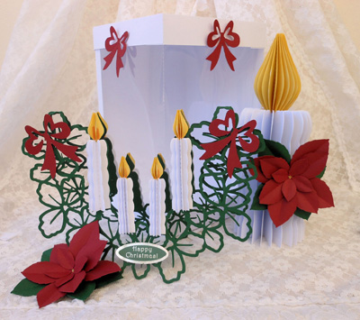 svg file template 3d christmas candle box card set 4 69