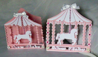 craftrobo cameo template baby carousel card topper set