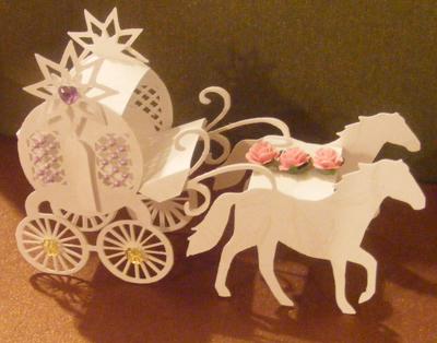 Craft Robo Gsd File Template 3d Miniature Horse & Carraige - £4.49