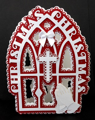 svg file template praying hands cross card 4 20