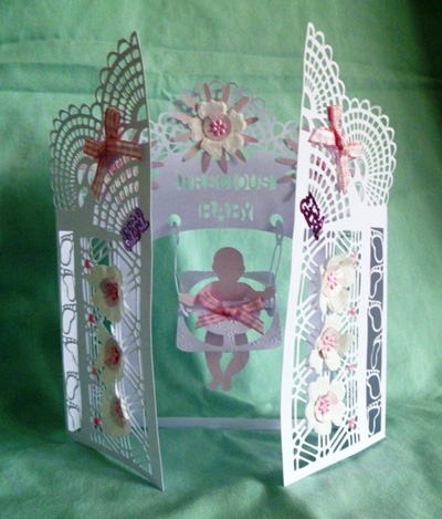 craftrobo cameo template 3d baby s rattle card set 4 49