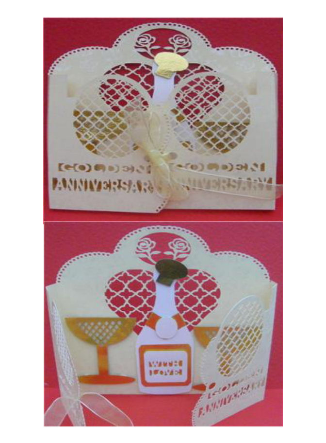 Craft Robo Gsd File Template Golden Wedding Anniversary Card - £1.93