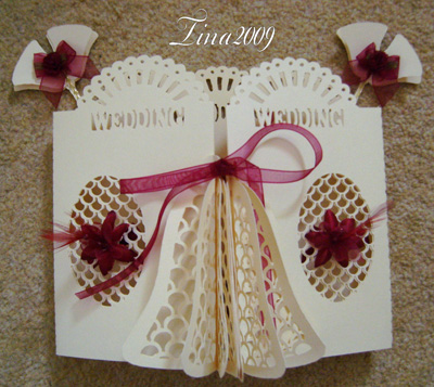 svg file template wedding 3d bell door card 163 2 60