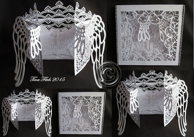 Brother FCM ScanNCut Template Angel Wings Door Card & Box